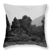 Mahuli Village Throw Pillow