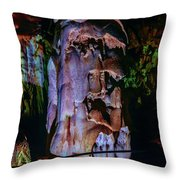 Marble Cave Crimea Throw Pillow