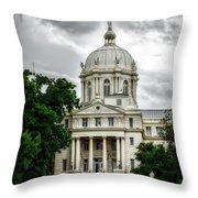 Mc Lennan County Courthouse - Waco Texas Throw Pillow