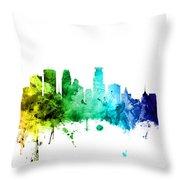 Minneapolis Minnesota Skyline Throw Pillow