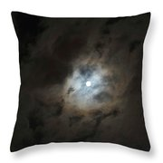 Moon And The Clouds Throw Pillow