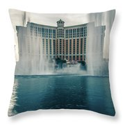 November 2017 Las Vegas Nv - Hotels And Restaurants On Las Vegas Throw Pillow