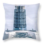 On Deck Of Huge Cruise Liner Ship From Seattle To Alaska Throw Pillow