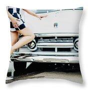 Pin Up #17 Throw Pillow