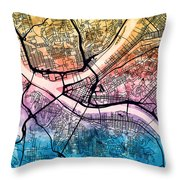 Pittsburgh Pennsylvania Street Map Throw Pillow