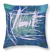Pop Art Fish Poster Throw Pillow