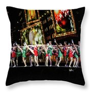 Radio City Rockettes New York City Throw Pillow
