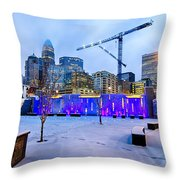 Rare Winter Weather In Charlotte North Carolina Throw Pillow