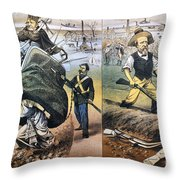 Reconstruction Cartoon Throw Pillow