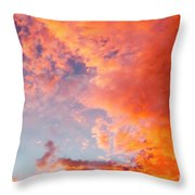 Red Cloudscape At Sunset. Throw Pillow