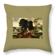 Rest On The Flight Into Egypt Throw Pillow