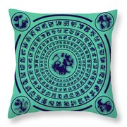 Runes Throw Pillow