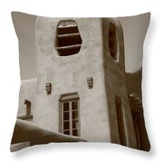 Santa Fe - Adobe Building Throw Pillow