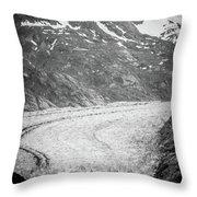 Sawyer Glacier In Tracy Arm Alaska Fjords Near Ketchikan Alaska Throw Pillow