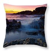 Second Valley Sunset Throw Pillow