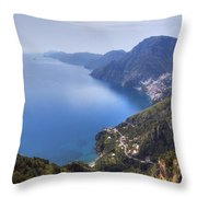 Sentiero Degli Dei - Amalfi Coast Throw Pillow