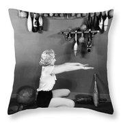 Silent Still: Exercise Throw Pillow