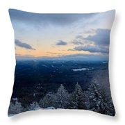 Spencer Butte Winter Summit, Eugene Oregon Feb 2018 Throw Pillow
