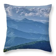 Springtime In The Blue Ridge Mountains Throw Pillow