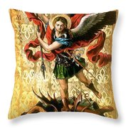 St. Michael Throw Pillow
