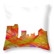 St Petersburg Florida Skyline Throw Pillow