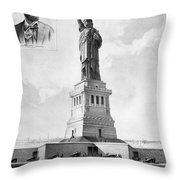 Statue Of Liberty, 1886 Throw Pillow