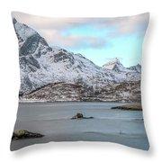 Sund, Lofoten - Norway Throw Pillow