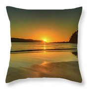 Sunrise Seascape From The Beach Throw Pillow