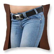 The G M Belt Throw Pillow