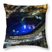 The Grateful Dead At Soldier Field Aerial Photo Throw Pillow