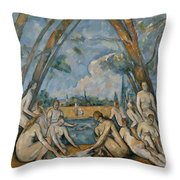 The Large Bathers Throw Pillow