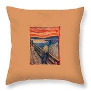 The Scream Ver 1893 Edvard Munch Throw Pillow