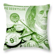 Time Is Money 16 Throw Pillow