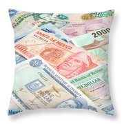 Travel Money - World Economy Throw Pillow