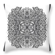 Concentric Butterfly Throw Pillow