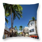 Tuk Tuk Trike Taxi Local Transport In Boracay Island Philippines Throw Pillow
