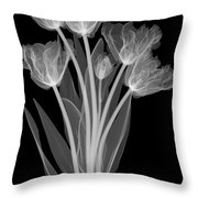 Tulips, X-ray Throw Pillow