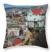 Valparaiso, Chile Throw Pillow