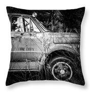 Vintage Autos In Black And White Throw Pillow