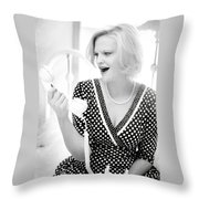 Vintage Val Black And White Throw Pillow