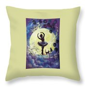 Walk To The Moon Throw Pillow