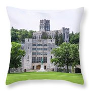 West Point Chapel Throw Pillow