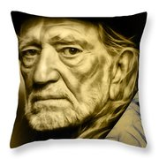Willie Nelson Collection Throw Pillow