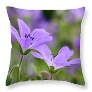 Wood Cranesbill Throw Pillow