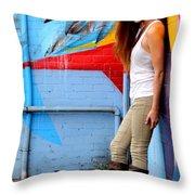 Young Woman Throw Pillow