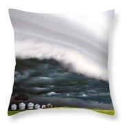 Storm Clouds Saskatchewan Throw Pillow
