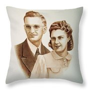 70 Years Together Throw Pillow