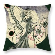 70's Angel Throw Pillow
