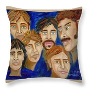70s Band Reunion Throw Pillow