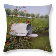 71 Cedar Lane Throw Pillow